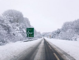 image: snow on road